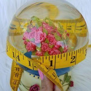 Wall Art - Final Sale Cute Music Box Co Basket off Flowers